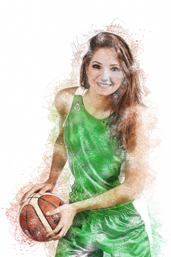 girl-with-ball-sketch-effect